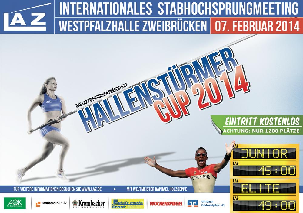 Flyer zum Hallenstürmer-Cup 2014