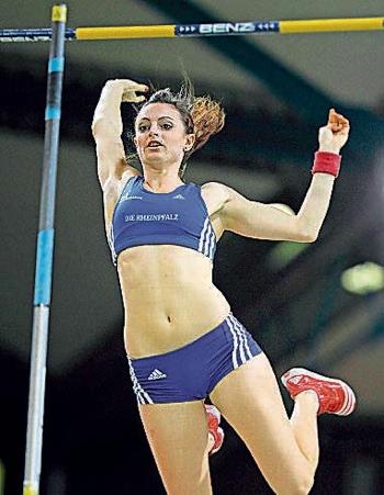Kristina Gadschiew führt die Bestenliste mit 4,55 an
