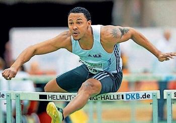 Hürdensprinter Marlon Odom musste sich trotz neuer persönlicher Bestleistung über 60 Meter Hürden mit Platz vier begnügen.