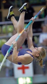 Michaela Donie bei den Deutschen Jugend-Hallenmeisterschaften in Sindelfingen 2012