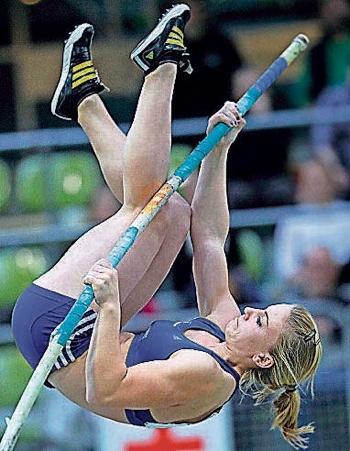 Michaela Donie hat ihre Bestleistung auf 4,20 gesteigert