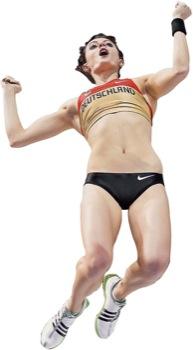 Stabhochspringerin Kristina Gadschiew krönte ihre Leistung mit Bronze bei der Hallen-EM