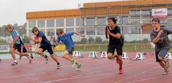 Sprint der männlichen Jugend A beim Stadtjugendsportfest 2011